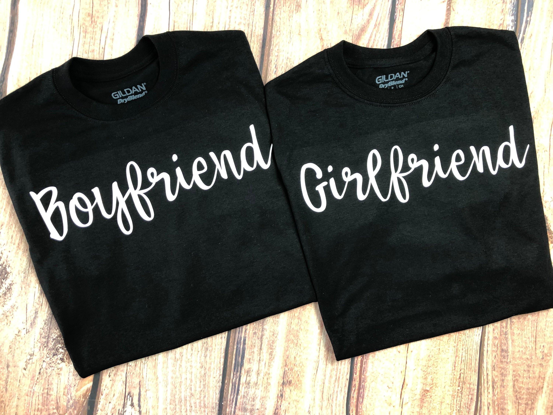 42198e732d Boyfriend Girlfriend Couples Shirts Matching Couples Shirts | Etsy