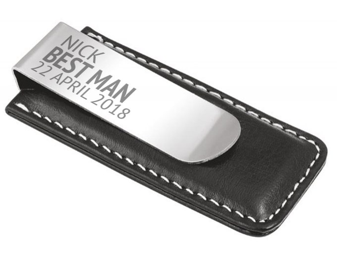Engraved best man MONEY CLIP gift, personalised wedding thank you keepsake gift - 7045-GT5