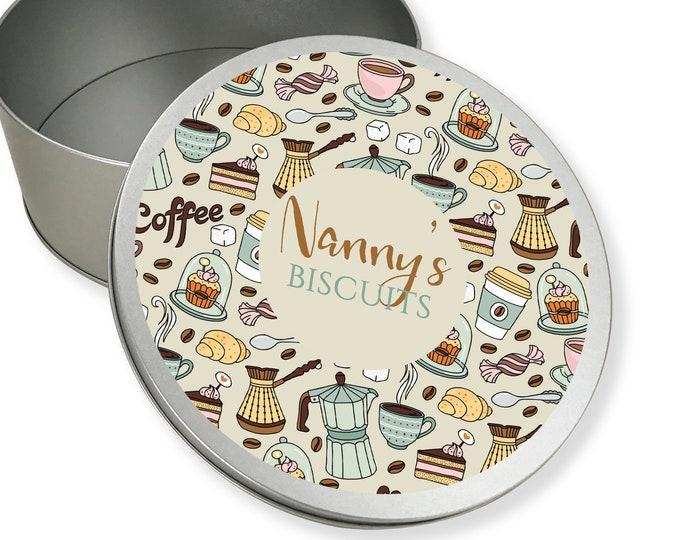 Personalised metal tin storage box gift idea, biscuit tin, sandwich tin, cake tin - RTN-TN2