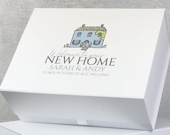 Personalised New Home keepsake gift box hamper, 1st home gift box, custom memory box - HOM