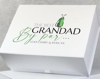 Personalised Golf keepsake gift box hamper, golfer golfing gift box, custom memory box - GOLF