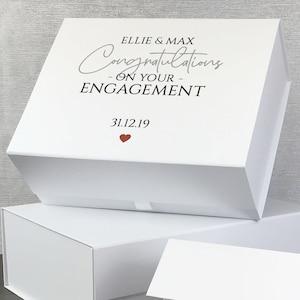 Personalised engagement gift box keepsake memory box MB28-ENG2