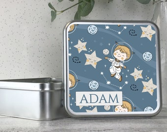 craft tin treats tin biscuit tin TS17-TN3 Personalised kids metal tin storage box gift idea