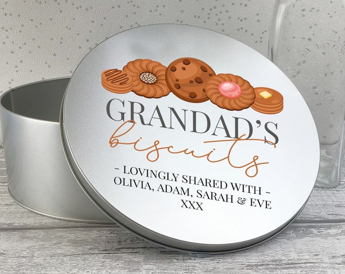Personalised biscuit tin box gift, metal storage tin box gift idea, biscuit and cookie tin RTN-TN31