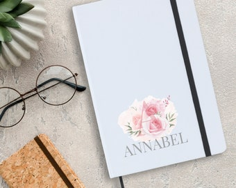 Personalised notebook gift idea for her, A5 planner journal gift for mum, grandma, auntie, friend, sister - A5N-INIT1