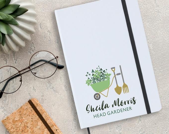 Personalised Head gardener notebook gift idea, allotment planner, gardening planner, A5 planner journal note book - NA5W-GAR1