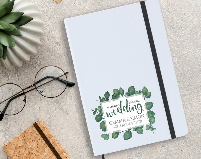Personalised A5 wedding planner notebook gift idea. Gift for a bride to be - CAR-WF5