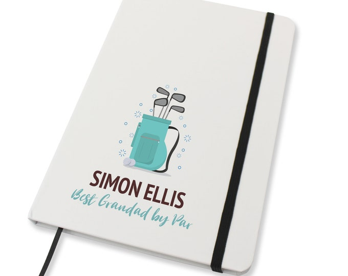 Personalised A5 notebook family gift idea, Golf gift, by par - NA5W-GF1