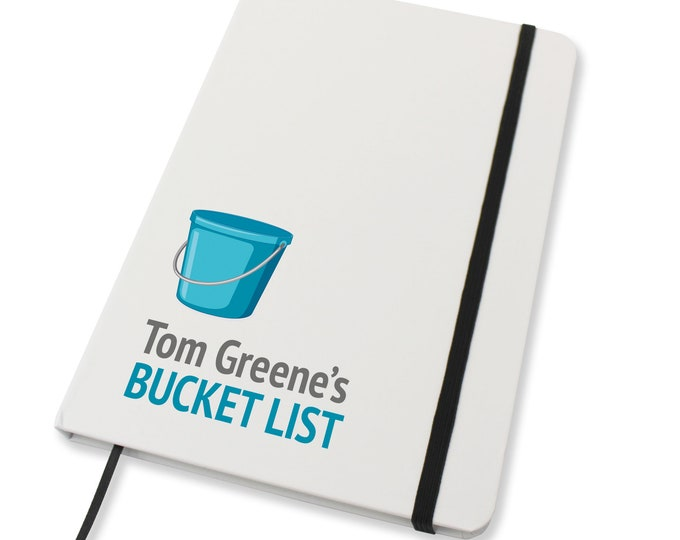 Personalised A5 notebook family gift idea, Bucket List gift - NA5W-BU1