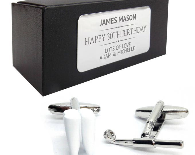 Dentist tooth dental orthodontist CUFFLINKS gift for him, personalised engraved cufflink box - 203
