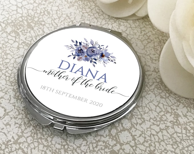 Personalised CUSTOM compact mirror wedding gifts - MIR-THER