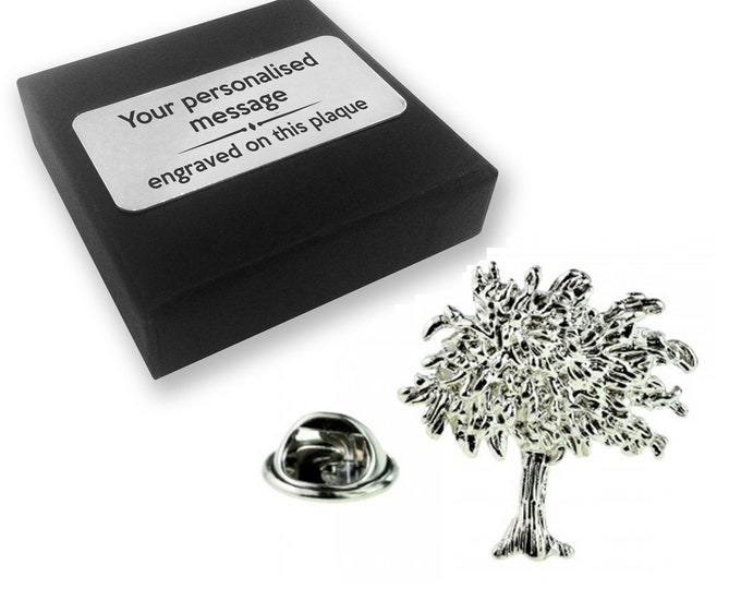Tree of life pin badge tie pin brooch accessory, boutonniere - 009L