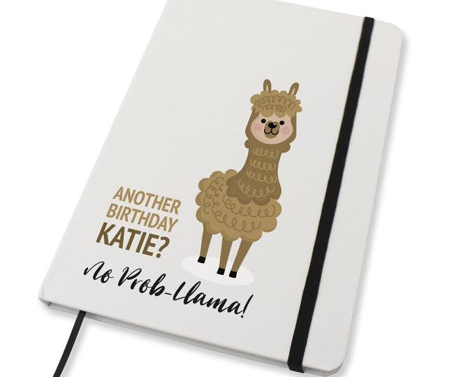 Personalised A5 notebook family gift idea, Drama llama alpaca gift idea - NA5W-LL2