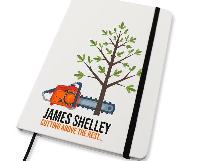 Personalised A5 notebook family gift idea, Tree Surgeon Arborist - NA5W-TS1