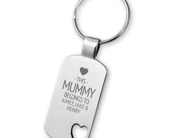 Engraved This MUMMY belongs to keyring gift,  heart cut out keyring - 5583LG8