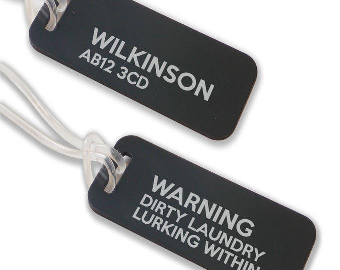 Personalised engraved suitcase holiday BAG luggage TAG, coloured aluminium custom luggage tag - ANB1-F1