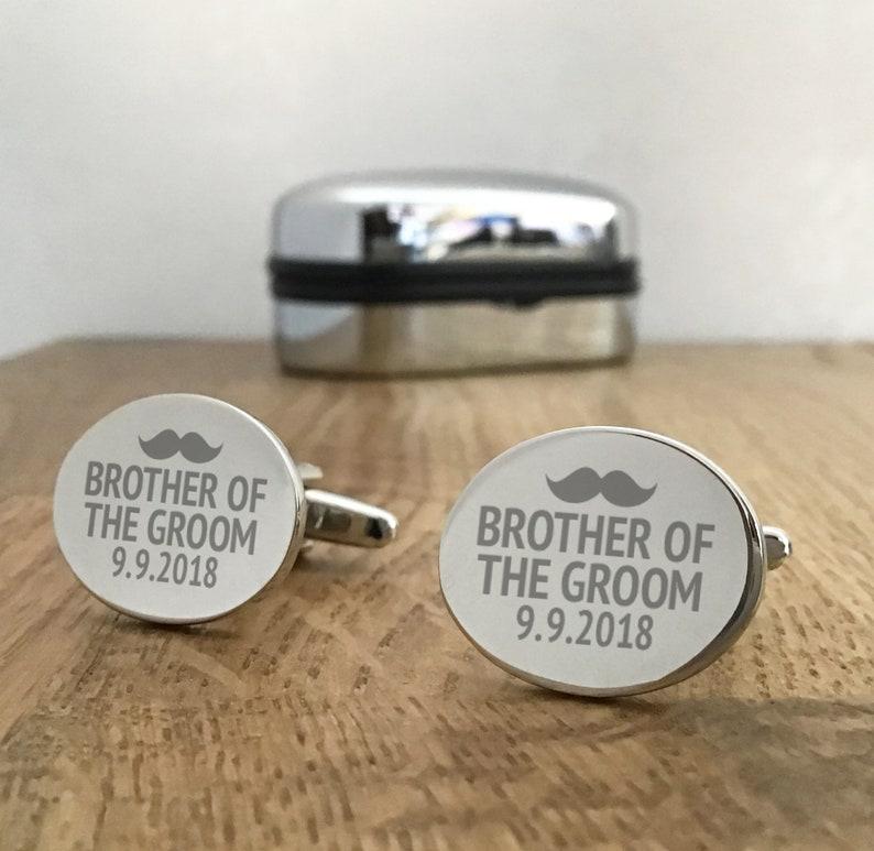 Oval Wooden Wedding Cufflinks Cuff Links Groom Best Man Usher Groomsman Gift Set