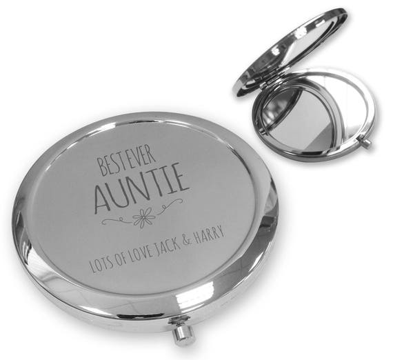Personalised engraved compact mirror
