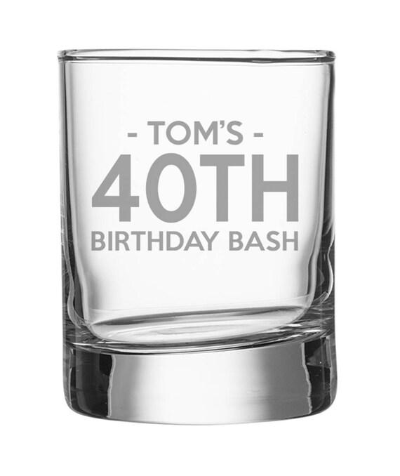 Gravierte 40. Geburtstag Schnapsglas personalisierte Schuss | Etsy