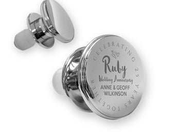 Personalised engraved RUBY 40th wedding anniversary deluxe wine bottle stopper gift idea, mirror polish - ANN40