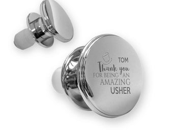 Personalised engraved USHER deluxe wine BOTTLE stopper wedding thank you gift idea, mirror plated - WD1