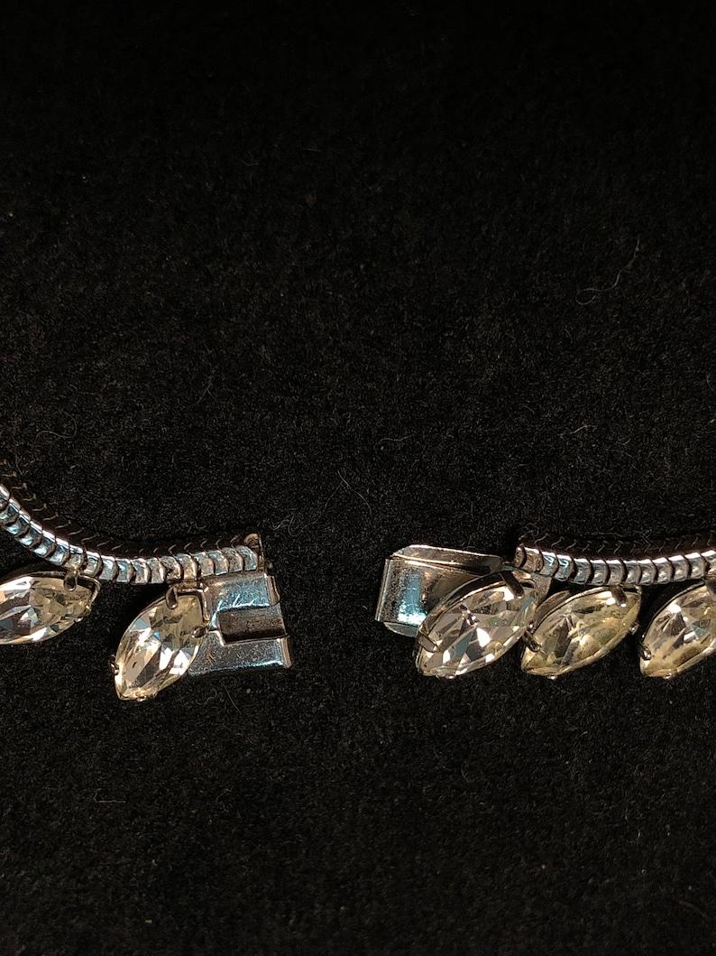 Vintage Kremtentz Marquise Choker and Flower Screw-back Earrings