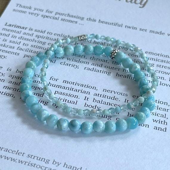 Toni - Larimar and Apatite Twin Set