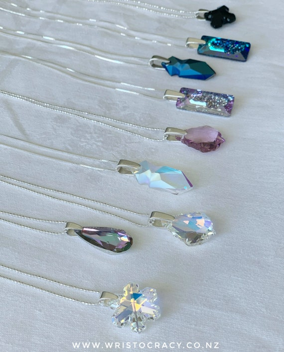 Swarovski Crystal and Sterling Silver necklaces (assorted)