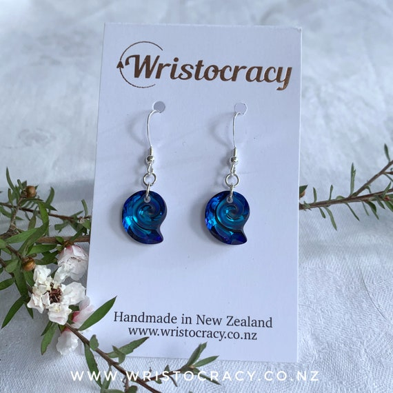 Swarovski Earrings - Crystal Nautilus