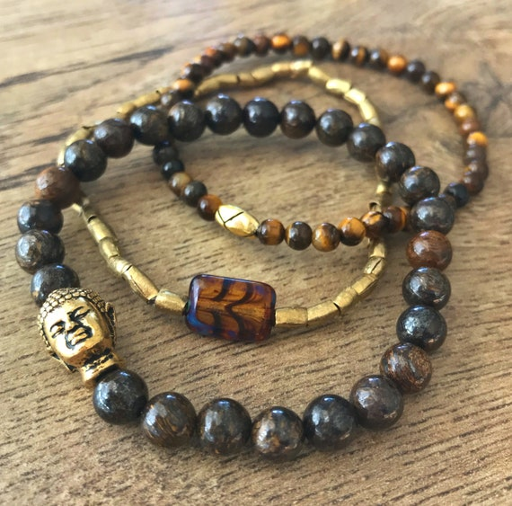 Wristocracy - Bronze, Tigers Eye and Brass (set of 3)