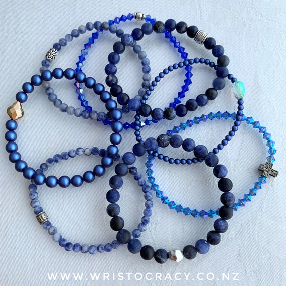 Wristocracy - Blue Single Bracelets to coordinate with Sodalite sets