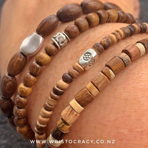 Wristocracy - Wooden Bracelet sets  (sets of 3 or 4 in light or dark woods)