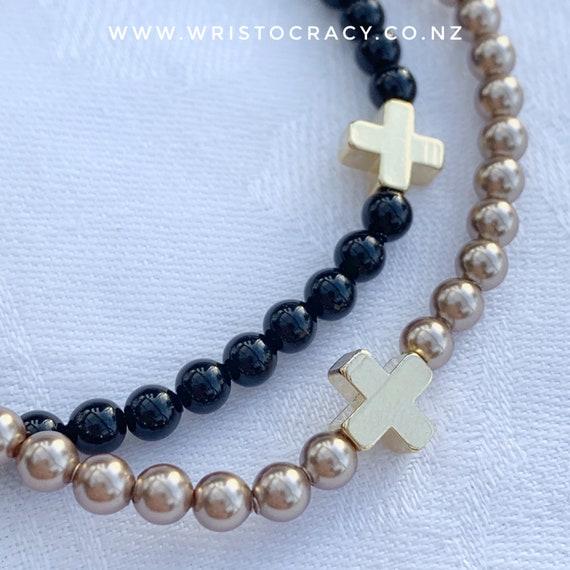 Wristocracy - chic Swarovski crystal pearl bracelet (20+ colours)