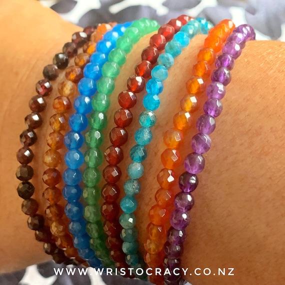 NEW Wristocracy - Small Bright Gemstone stackers