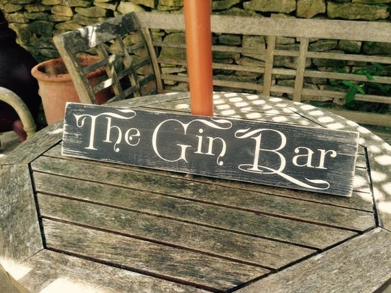 Gin /& Tonic GIN BAR Pub BBQ sign plaque Party Gift Vintage Look Old GARDEN SHED