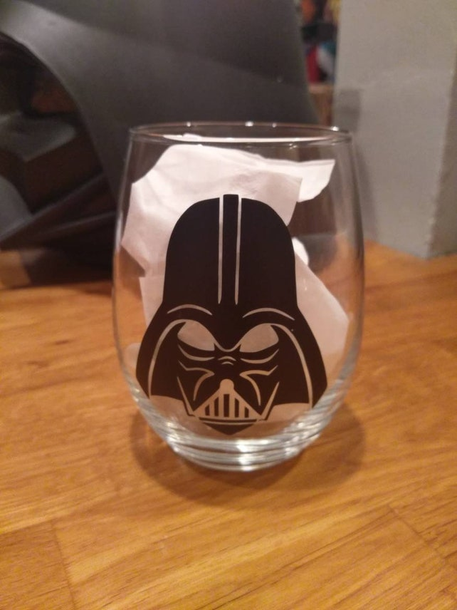Darth Vader Cup Wine Glass Etsy