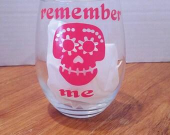 Coco remember me wine glass