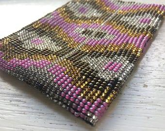 Lucha Libre Coin Purses in varied colour choices - Beaded Huichol Purse