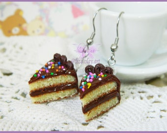 Cake Ring / Kawaii Ring / Miniature Food Ring / Cake Earrings / Kawaii jewelry