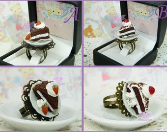 Cake Ring / Kawaii Ring / Miniature Food Ring / Cake Jewelry / Kawaii jewelry