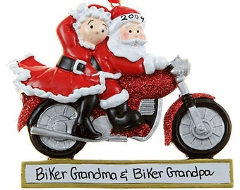motorcycle couple personalized christmas ornament sport christmas ornament christmas decoration for tree christmas tree ornament - Biker Christmas