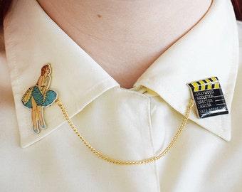 HOLLYWOOD, Handmade Collar Clips