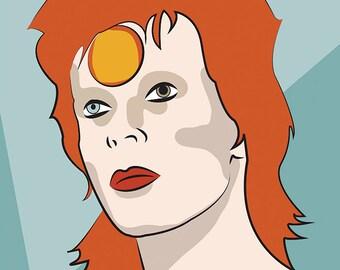 STARMAN, David Bowie Illustration, A3 Print