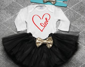 Glitter Heart Shirt Girls Valentines Day Shirt Girls Etsy