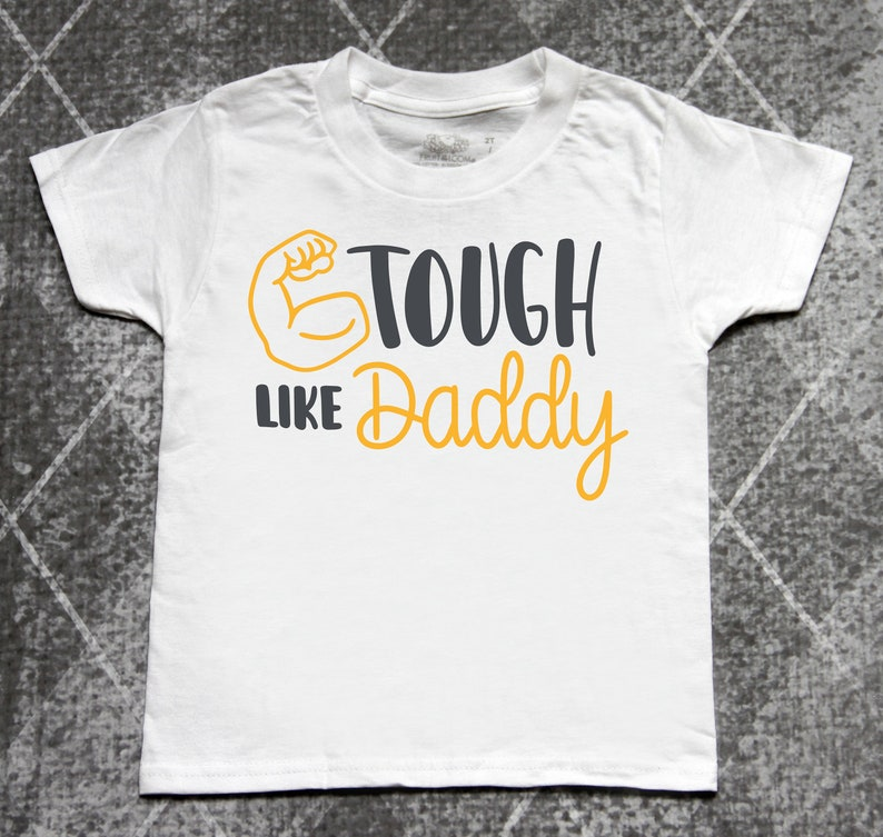 72ce0a8d Tough like daddy fathers day shirts boys fathers day shirts | Etsy