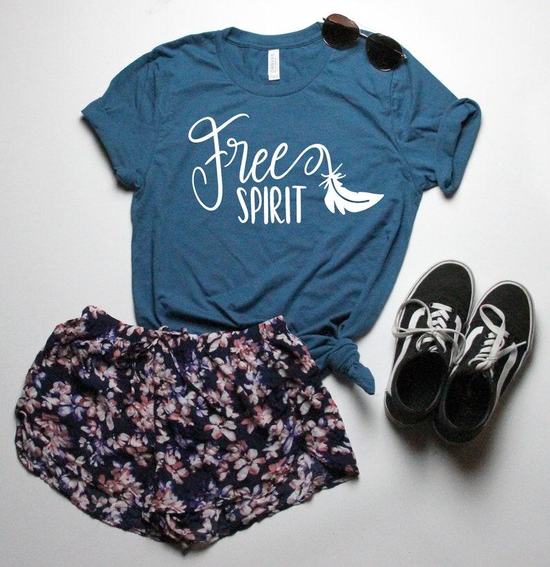 3c2358cd Free spirit t-shirt womens inspirational shirts casual | Etsy