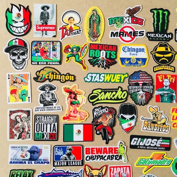 Mexican construction chingon chapeau dur Autocollants Casque Autocollant Drôle effrontée!