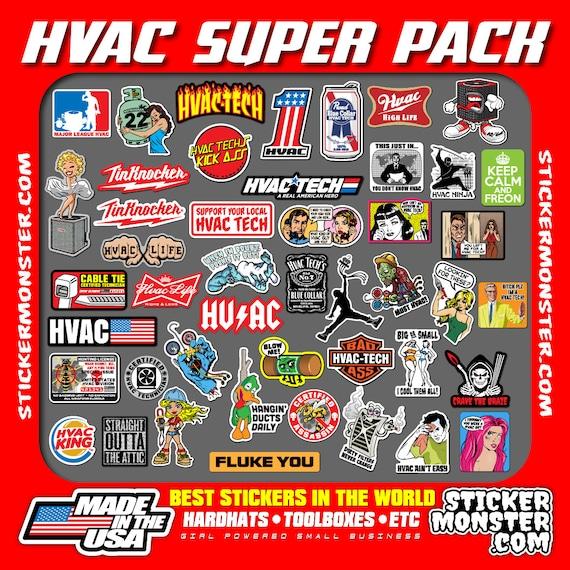 hvac tech hard hat stickers 45 hardhat sticker and decals