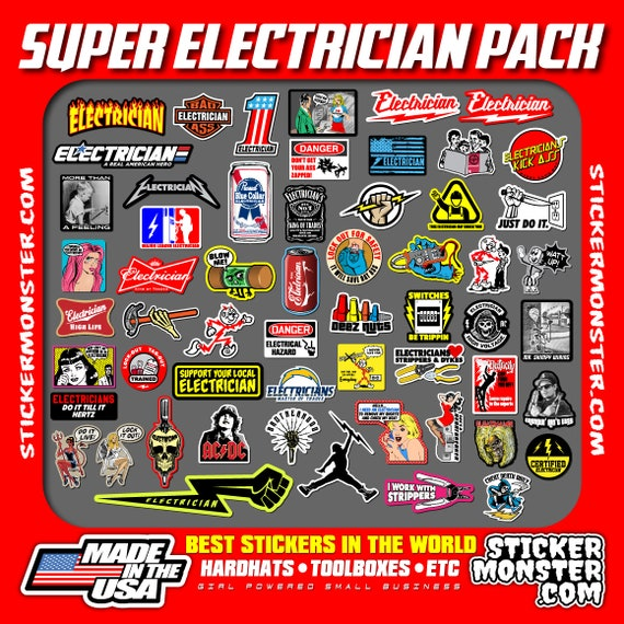 new electrician hard hat stickers 55 hardhat sticker and
