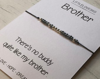 Brother Braceletbrother Giftmorse Code Brothergift For Brotherbrother Jewelrygift Himstep Giftbrother Birthday Gift